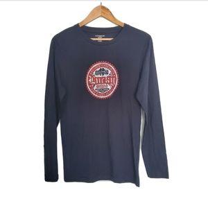 NWT Lucky Brand Navy Pajama Long Sleeve Top